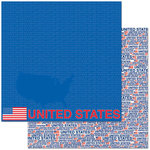 Reminisce - Passports Collection - 12 x 12 Double Sided Paper - America