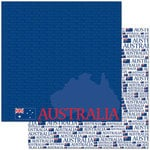 Reminisce - Passports Collection - 12 x 12 Double Sided Paper - Australia