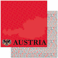 Reminisce - Passports Collection - 12 x 12 Double Sided Paper - Austria