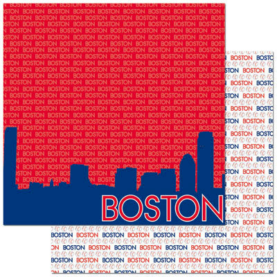 Reminisce - Passports Collection - 12 x 12 Double Sided Paper - Boston