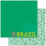 Reminisce - Passports Collection - 12 x 12 Double Sided Paper - Brazil