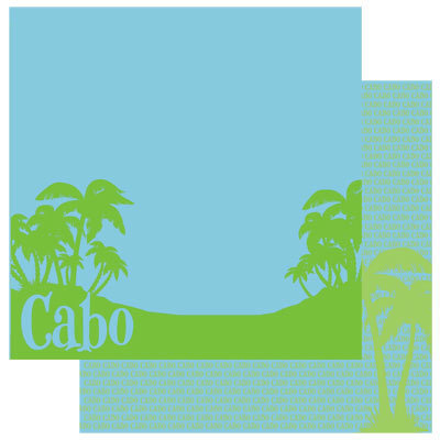 Reminisce - Passports Collection - 12 x 12 Double Sided Paper - Cabo