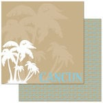 Reminisce - Passports Collection - 12 x 12 Double Sided Paper - Cancun