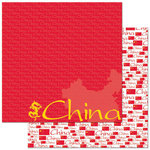 Reminisce - Passports Collection - 12 x 12 Double Sided Paper - China