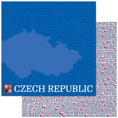 Reminisce - Passports Collection - 12 x 12 Double Sided Paper - Czech Republic