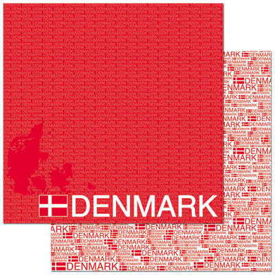 Reminisce - Passports Collection - 12 x 12 Double Sided Paper - Denmark