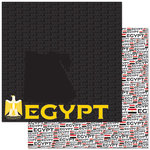 Reminisce - Passports Collection - 12 x 12 Double Sided Paper - Egypt