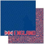 Reminisce - Passports Collection - 12 x 12 Double Sided Paper - England