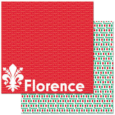 Reminisce - Passports Collection - 12 x 12 Double Sided Paper - Florence