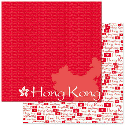 Reminisce - Passports Collection - 12 x 12 Double Sided Paper - Hong Kong