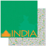 Reminisce - Passports Collection - 12 x 12 Double Sided Paper - India