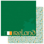 Reminisce - Passports Collection - 12 x 12 Double Sided Paper - Ireland
