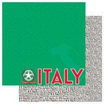 Reminisce - Passports Collection - 12 x 12 Double Sided Paper - Italy