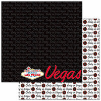 Reminisce - Passports Collection - 12 x 12 Double Sided Paper - Las Vegas