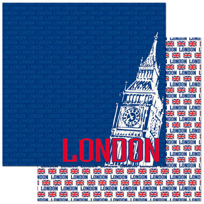 Reminisce - Passports Collection - 12 x 12 Double Sided Paper - London