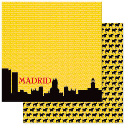 Reminisce - Passports Collection - 12 x 12 Double Sided Paper - Madrid