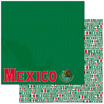 Reminisce - Passports Collection - 12 x 12 Double Sided Paper - Mexico