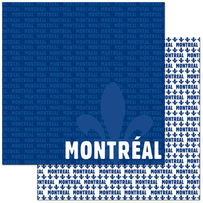 Reminisce - Passports Collection - 12 x 12 Double Sided Paper - Montreal