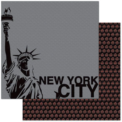 Reminisce - Passports Collection - 12 x 12 Double Sided Paper - New York City