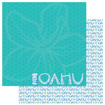 Reminisce - Passports Collection - 12 x 12 Double Sided Paper - Oahu