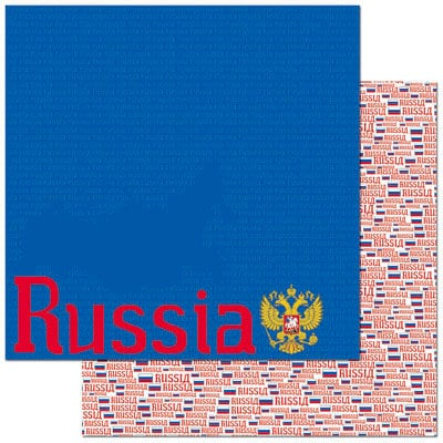 Reminisce - Passports Collection - 12 x 12 Double Sided Paper - Russia