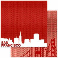 Reminisce - Passports Collection - 12 x 12 Double Sided Paper - San Francisco