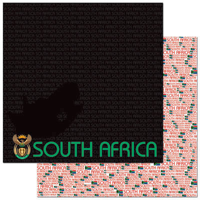 Reminisce - Passports Collection - 12 x 12 Double Sided Paper - South Africa