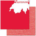 Reminisce - Passports Collection - 12 x 12 Double Sided Paper - Switzerland