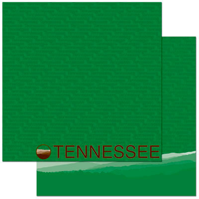 Reminisce - Passports Collection - 12 x 12 Double Sided Paper - Tennessee