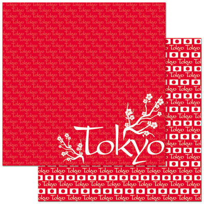 Reminisce - Passports Collection - 12 x 12 Double Sided Paper - Tokyo