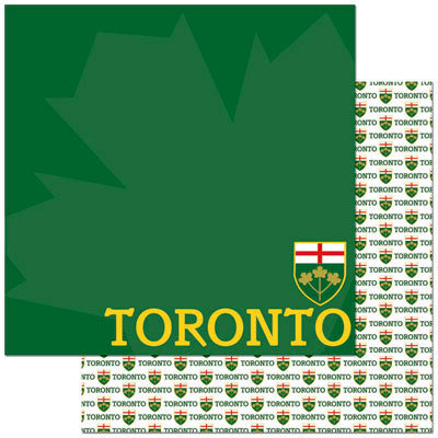 Reminisce - Passports Collection - 12 x 12 Double Sided Paper - Toronto