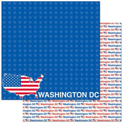 Reminisce - Passports Collection - 12 x 12 Double Sided Paper - Washington DC