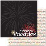 Reminisce - Passports Collection - 12 x 12 Double Sided Paper - Magical Vacation
