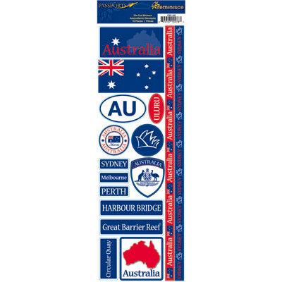 Reminisce - Passports Collection - Cardstock Stickers - Australia