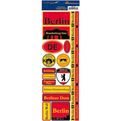 Reminisce - Passports Collection - Cardstock Stickers - Berlin