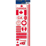 Reminisce - Passports Collection - Cardstock Stickers - Canada