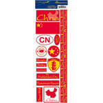 Reminisce - Passports Collection - Cardstock Stickers - China