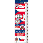 Reminisce - Passports Collection - Cardstock Stickers - Czech Republic
