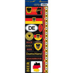 Reminisce - Passports Collection - Cardstock Stickers - Germany