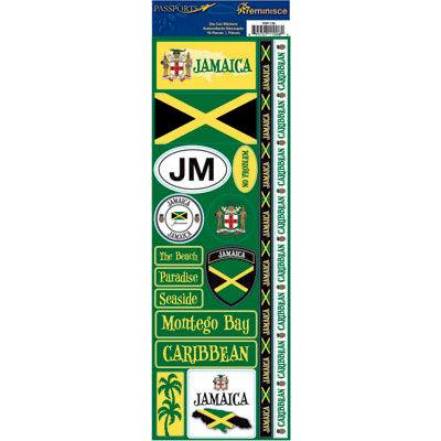 Reminisce - Passports Collection - Cardstock Stickers - Jamaica