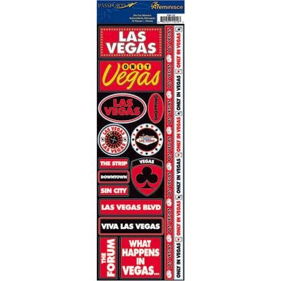 Reminisce - Passports Collection - Cardstock Stickers - Las Vegas