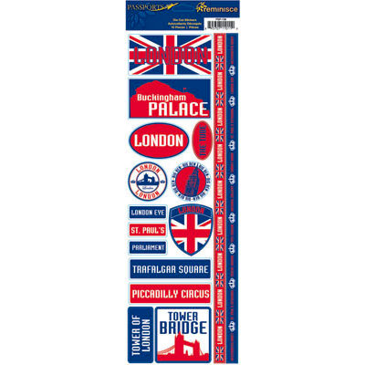 Reminisce - Passports Collection - Cardstock Stickers - London