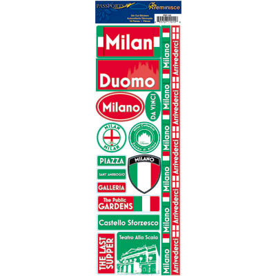 Reminisce - Passports Collection - Cardstock Stickers - Milan