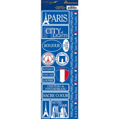 Reminisce - Passports Collection - Cardstock Stickers - Paris