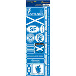 Reminisce - Passports Collection - Cardstock Stickers - Scotland