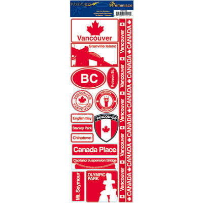 Reminisce - Passports Collection - Cardstock Stickers - Vancouver