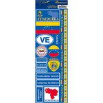 Reminisce - Passports Collection - Cardstock Stickers - Venezuela