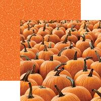 Reminisce - Pumpkin Patch Collection - 12 x 12 Double Sided Paper - Pumpkins Galore