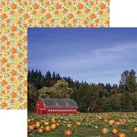 Reminisce - Pumpkin Patch Collection - 12 x 12 Double Sided Paper - Pumpkin Patch