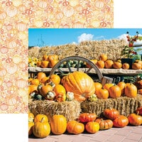 Reminisce - Pumpkin Patch Collection - 12 x 12 Double Sided Paper - Pumpkin Display